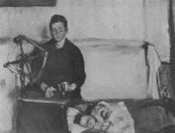 Hans kone og barn